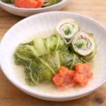 白菜の豚肉豆苗巻き