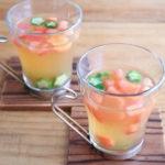 オクラとトマトの冷製スープ
