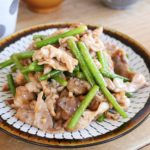 豚肉とニンニクの芽の炒め物
